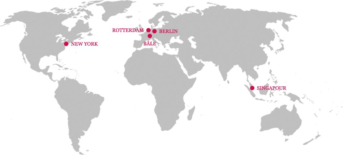 Carte des partenaires internationaux