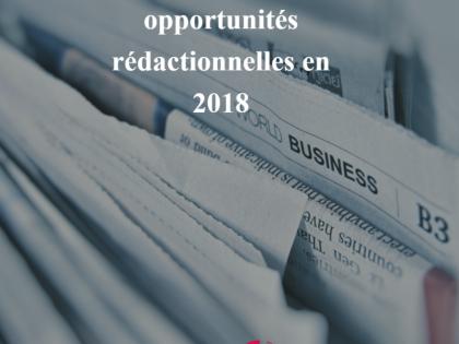 Saisissez toutes les opportunités rédactionnelles de vos médias cibles en 2018